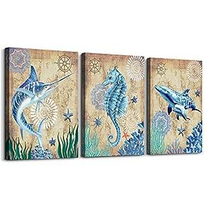 51R5KiAtZ5L._SS300_ Seahorse Wall Art & Seahorse Wall Decor