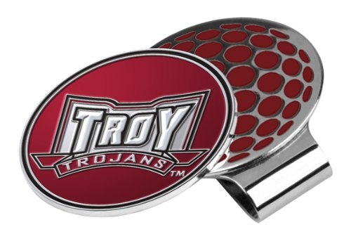 (LinksWalker NCAA Troy State Trojans Golf Hat Clip with Ball)