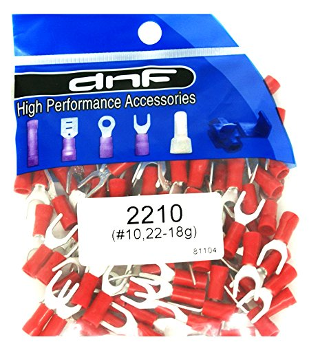 DNF 200 Pack Copper 22-18 Gauge Red Spade Electrical Terminals #10