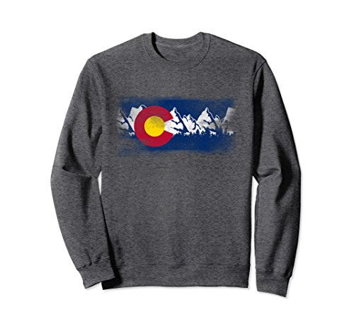 State Flag Sweatshirt (Unisex Colorado State Flag Sweatshirt Mountain Colorado Day Gift Small Dark Heather)