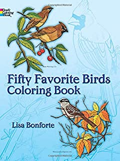 Fifty Favourite Birds Colouring Book Coloring Dover Nature