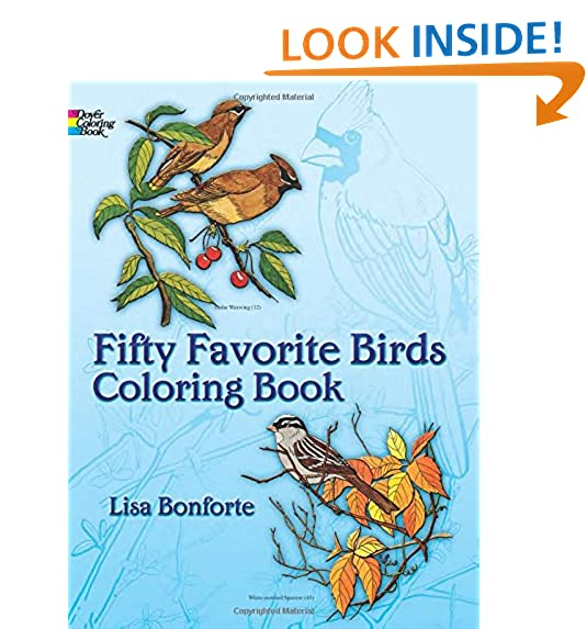Fifty Favorite Birds Coloring Book Dover Nature