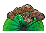 Continental Art Center Metal Lotus Leaf Fountain, 19 by 9 by 8-Inch