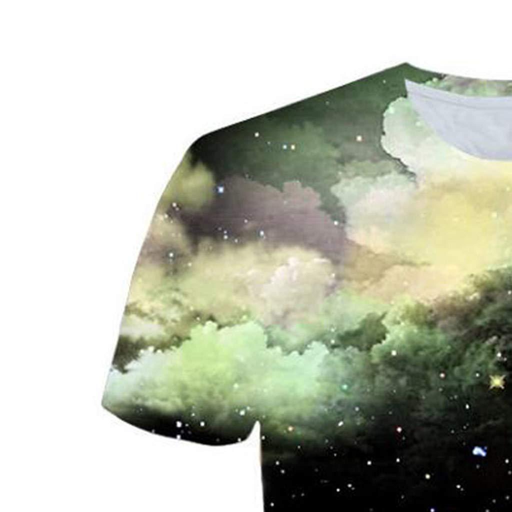 Men 3D Printing T-Shirt,Jchen Summer Mens Teen Boys Short Sleeve 3D Wolves Print Casual Pullover Tees Shirt Tops (M/US/EU Size:S, Black) by Jchen Men T-shirt (Image #3)