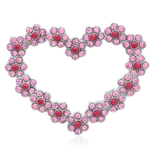 - Soulbreezecollection Valentine's Day Pink Heart Pin Brooch Designer Fashion Jewelry Charm Gift