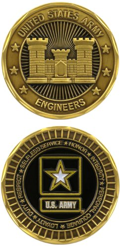 United States Military US Armed Forces Army Engineers - Good Luck Double Sided Collectible Challenge Pewter Coin by Eagle Crest