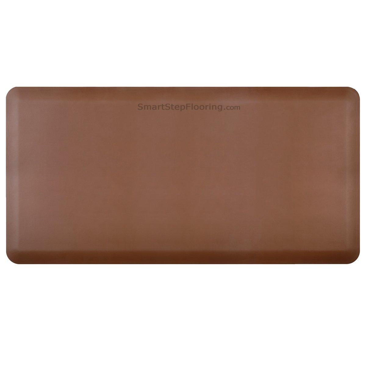 Smart Step Designer Anti-Fatigue Polyurethane Mat, 36'' Length x 20'' Width x 5/8'' Thick, Brown