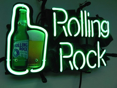 beer neon signs rolling rock - 3