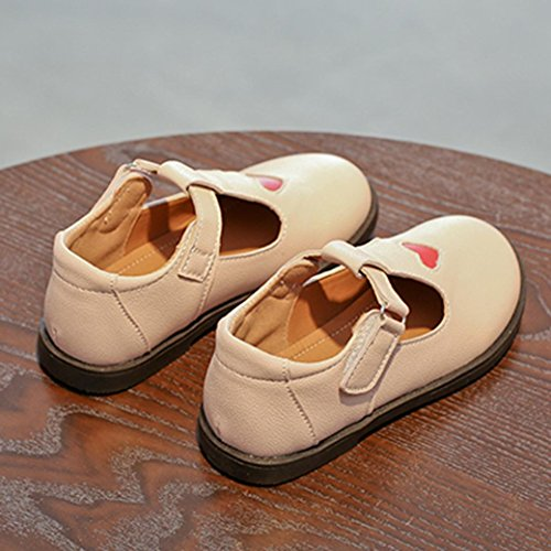 Prevently Baby Schuhe Mädchen Mädchen Lieben Kleine Schuhe, Schuhe, Prinzessinnenschuhe Kinder Baby Mädchen Mode Prinzessin Liebe Tanz Nubukleder Casual Single Schuhe Rosa
