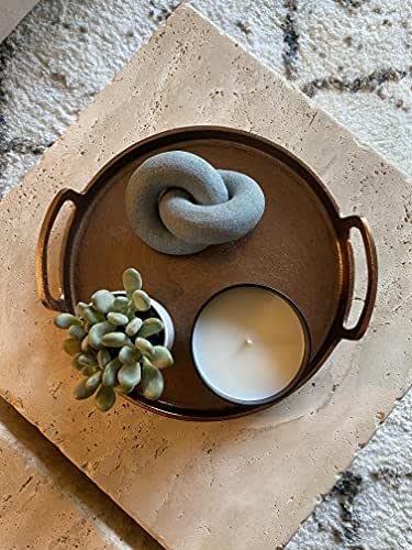 Clay Knot Sculpture, Figurine, Table Top Decor (Textured Concrete)