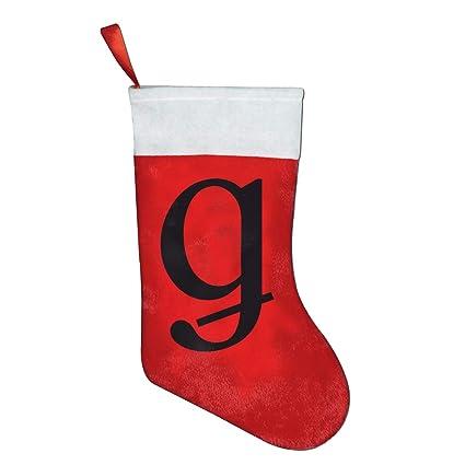 Letter Christmas Stockings.Amazon Com Fqwedy Letter G Fashion Unique Christmas Stockings