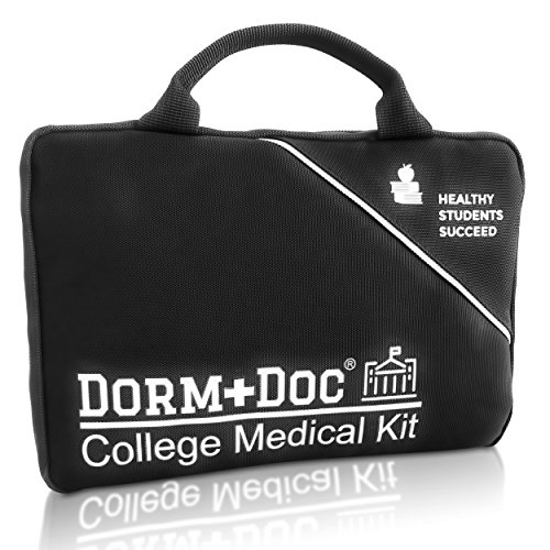 445ddfd9f9 College First Aid Medical Kit Dorm Room Essential - Complete 125 Piece Kit  First Aid 6 OTC Meds Pharmacist Designed