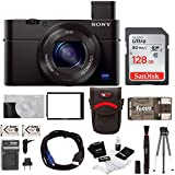 Sony Cyber-shot RX100M III Digital Camera with Sony 128GB SD Card & Battery Pack Bundle
