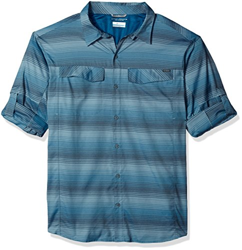 (Columbia Men's Silver Ridge Plaid Long Sleeve Shirt, XX-Large, Phoenix Blue)