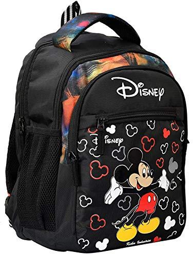 Kuber Industries Disney Mickey Mouse Print 14 inch Waterproof Polyster School Bag/Backpack for Kids  Black