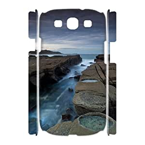 3D Samsung Galaxy S3 Cases Shallow Water, Samsung Galaxy S3 Cases Water for Teen Girls, [White]