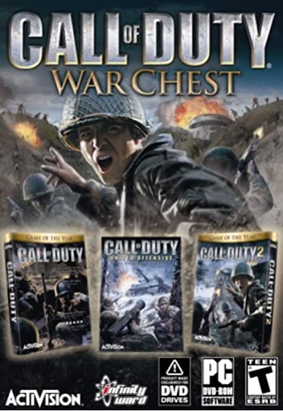 Amazon Com Call Of Duty War Chest Includes Call Of Duty Call Of Duty United Offensive Expansion Pack Call Of Duty 2 Video Games