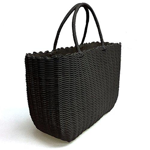 Tote Bag, Fashion Purse Women, Waterproof Beach Bag, Ladies Shopping Bag, 100% Recycled Woven Plastic Material (Stylish Espresso) ()