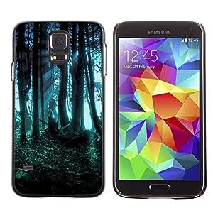 Caucho caso de Shell duro de la cubierta de accesorios de protección BY RAYDREAMMM - Samsung Galaxy S5 SM-G900 - Forest Dark Fairy Mysterious Nature Summer