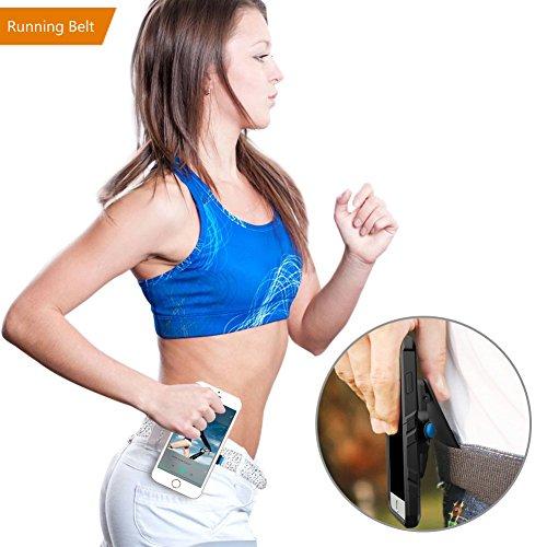 dytesa universal womens running belt clip quick mount suit iphone 7/6/6s plus, galaxy s6/s7 edge, note 5/4/3, outdoor sports cellphone holder sweatproof gym running belt clip