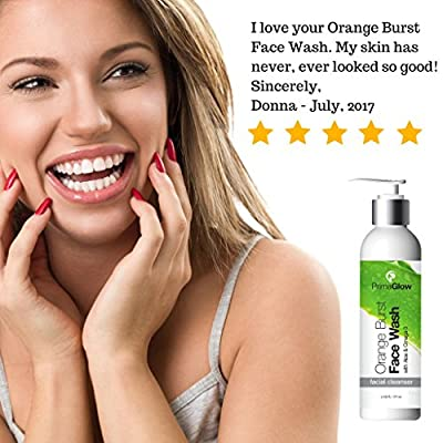 PrimaGlow Orange Burst Face Wash, an Anti-Aging Facial Cleanser a Different, Yet Effective Natural Skin Care for Women, Men and Kids. 6 ounce from USA Best Solutions LLC