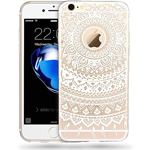 Series Lace (iPhone 7 [4.7''] Case - Anwish Mint Mandala Sun Lace Totem Series Print Cover Vogue Soft TPU Crystal Back Unique Ultraslim Thin Clear Protect Case For iPhone)