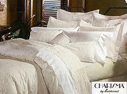 charisma by fieldcrest made in usa jules king mini duvet set color parchment - Fieldcrest Bedding