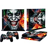 Mod Freakz Console and Controller Vinyl Skin Set - Grinning Clown Evil for Playstation 4