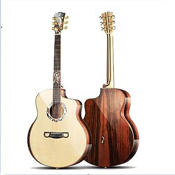 QING.MUSIC Guitar Guitarra Spruce de 42 Pulgadas, Instrumento de Cuerda Profesional, Madera Maciza, Principiante, Artista,B: Amazon.es: Deportes y aire libre