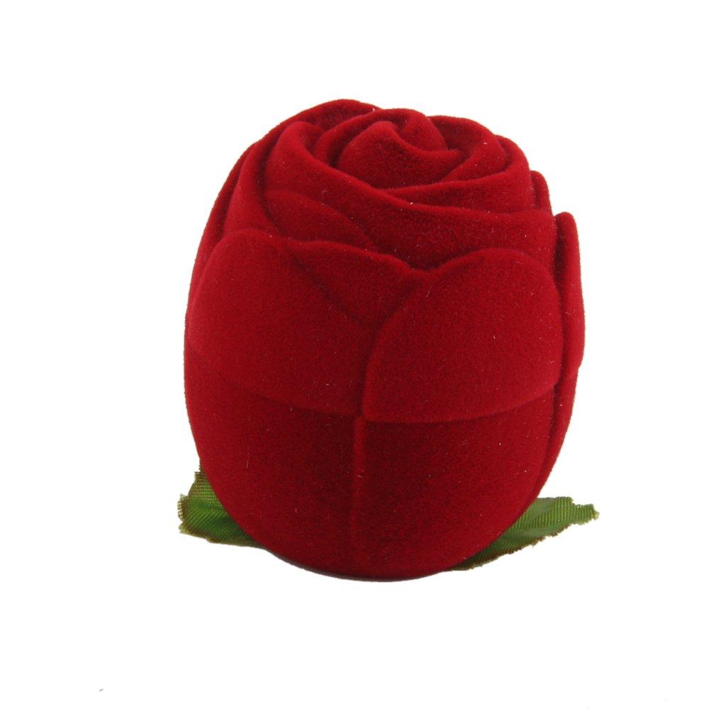 Rose Velours Boîte d'Anneau Rangement de Bijoux Cas Organisateur