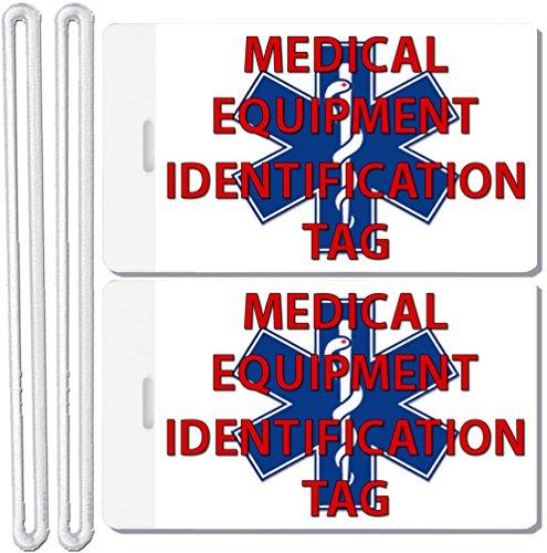 2x Medical Equipment Identification Luggage Tags TSA Carry-On CPAP BiPAP Sleep APNEA POC (Cpap Medical Equipment Carry On Luggage Tag)