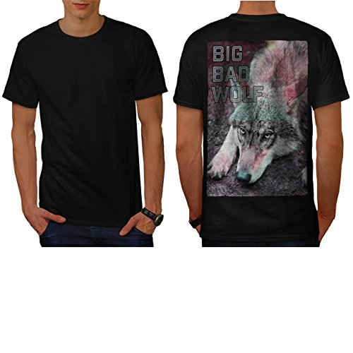 [Look Of Big Bad Wolf Wild Beast Men NEW S T-shirt Back | Wellcoda] (Big Bad Wolf Outfit)