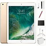 Apple iPad 9.7 inch 32GB Gold Generation 5 Accessories Bundle(10,000mAh iPad Power Bank, iPad Stylus Pen, Microfiber Cloth)