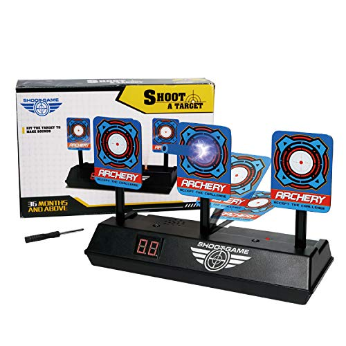 Electric Targets, Digital Scoreboard Targets, Auto-Reset and Intelligent Sound&Light Effect, Scoring Target for Nerf Guns, Shooting Games, Party Favors Gift for Kids, Outdoor Toys