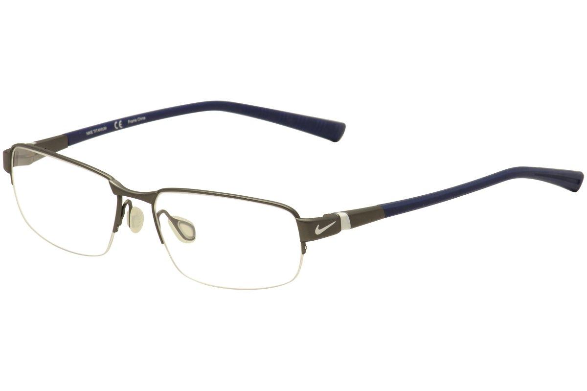 NIKE 6051 Eyeglasses 060 Charcoal Demo Lens 52-15-145 by NIKE