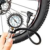CycloSpirit Universal Bicycle Tire Inflator Gauge with Auto-Select Valve Type - Presta and Schrader Air Compressor Tool