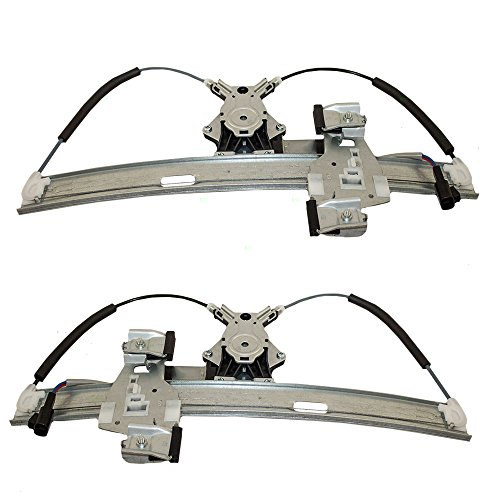 Driver and Passenger Rear Power Window Lift Regulators with Motors Assemblies Replacement for Pontiac 15869655 15869654