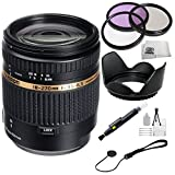 "Tamron AF 18-270mm f/3.5-6.3 Di II VC PZD LD Aspherical IF Macro Zoom Lens for Canon DSLR Cameras + SSE ""Lens Care"" Kit: Includes - 3 Piece Professional Filter Kit (UV,CPL,FLD) Lens Pen, Tulip Lens Hood, Lens Cap Keeper & SSE Microfiber Cleaning Cloth"