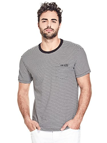 Used, GUESS Factory Men's Dev Striped Logo Front Pocket Tee for sale  Delivered anywhere in USA