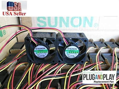 2x Quiet Replacement Fan for NETGEAR ProSAFE GS728TP 24-Port