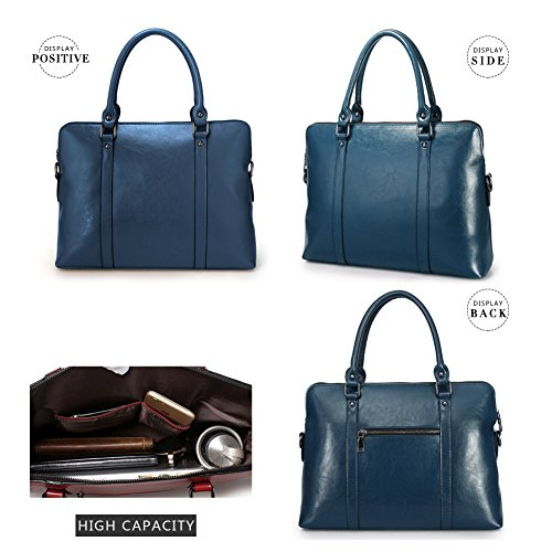 Sacs G a a tout Bleu pour femme AVERI cuir documents main en bandouliere Sac veritable Porte fourre Sacs PqPwrE7