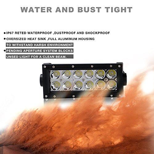 for Yamaha Polaris Honda Suzuk 6Inch Spot Led Light Bar w//Mounting Bracket