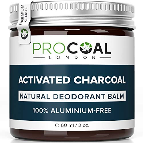 Natural Deodorant with Activated Charcoal by PROCOAL - 100% Aluminium-Free...