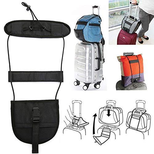 Nrpfell Voyage Sac de bagages Valise elastique Ceinture ajustable Sangle de transport pour sac a dos