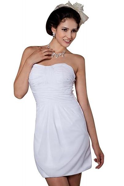 George Bride ultracorta sencillo gasa playa vestido de boda Vestidos de novia Vestidos de Boda beige
