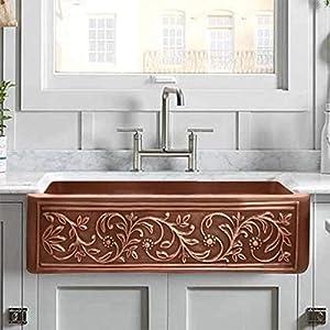 51R5QE0LE1L._SS300_ Copper Farmhouse Sinks & Copper Apron Sinks