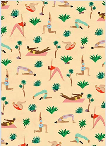 (Yoga Rolled Gift Wrap Paper 2 Sheets of 19.5 in x 27.5 in Heavy Weight Paper)