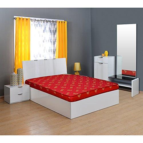 Nilkamal Value+ 4-inch Double Size Foam Mattress (Maroon, 75x60x4)