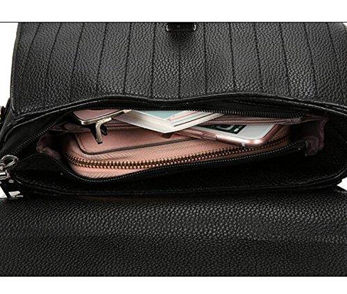 Versión Coreana Salvaje Portátil Bolso Pequeño Moda Bolsos Cercanías Bolso Cuadrado Pequeño Hombro Bolso Del Mensajero DarkBrown