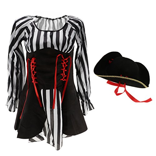 B Corsario Blesiya Buccaneer de Carnaval Mujer Danza Femme con Traje Sombrero Ropa Vestido Capitán rrAwav6x